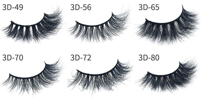 3D Mink False Eyelashes makeup 100% Real Mink charming slender 3D multi-layer thick False Eyelashes Eye Lashes Makeup