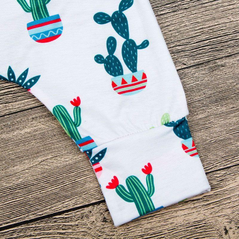 Pagliaccetto del bambino 2018 Estate Cotone Neonato Vestiti Cactus Stampa Senza Maniche Pagliaccetto Tuta Abbigliamento Bambini Abiti Neonate Ragazzi Vestiti