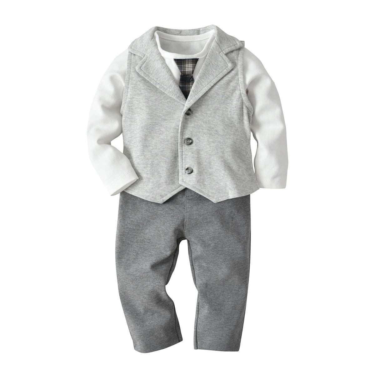 5d14dd03ac4a Toddler Baby Boys Clothing Set Infant Newborn Bodysuit Rompers ...