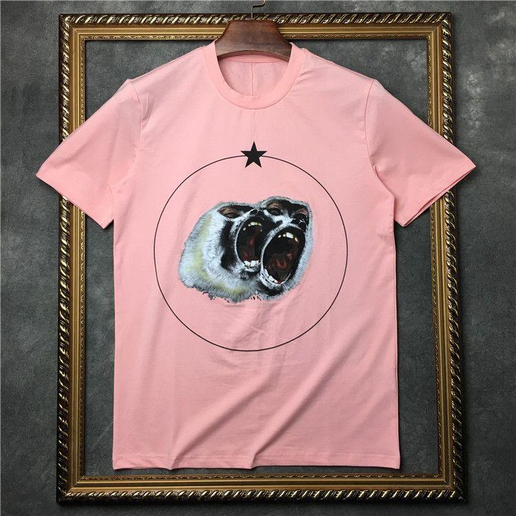 2019 neue sommer männer designer marke t shirt kleidung kurzarm t-shirt brüllen orang-utan affe kreis stern tshirt unsex t-stück baumwolle