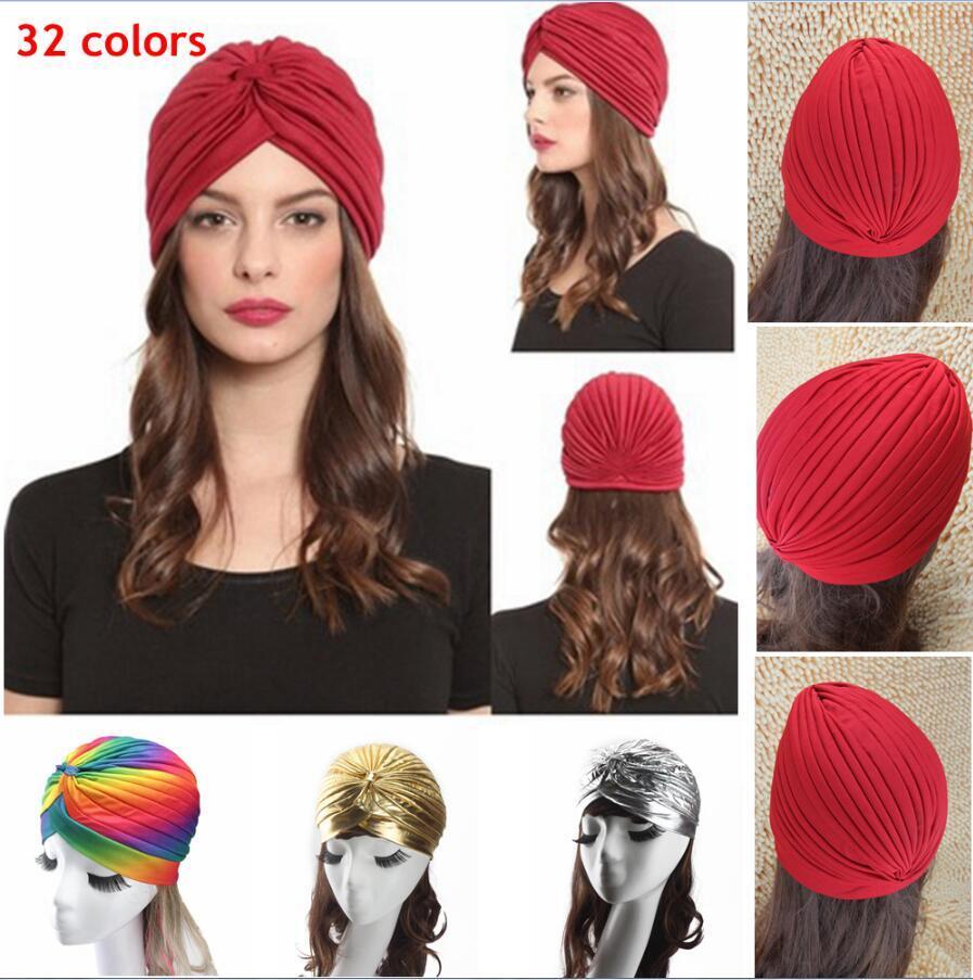 Compre Mujeres Unisex Estilo Indio Sombrero De Turbante Extensible Cabeza  De Cabello Abrigo Gorro Cloche Gorro Bandanas Árabes es 500 Unids AAA853 A   0.7 ... 24576c9b2d9
