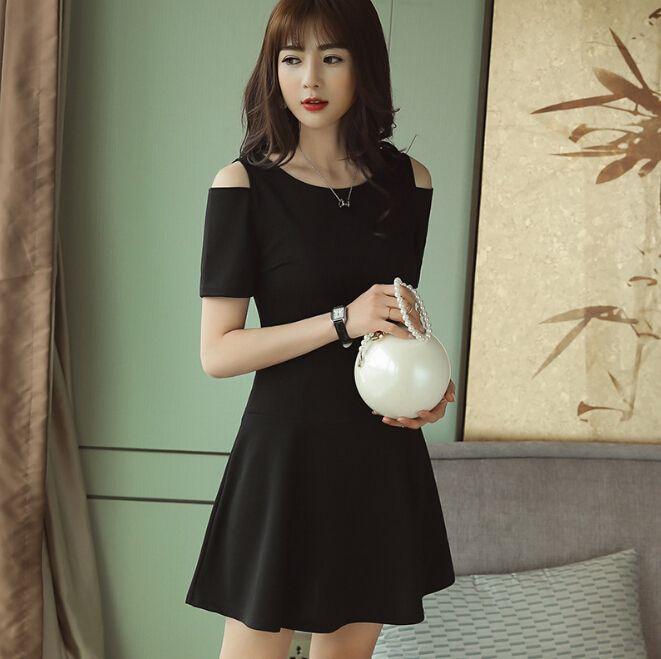 800c78f441a Spring Summer Dress Women Clothing Short Sleeve Bodycon Dress Dew Shoulder  Fashion Slim Dress Cute Black Red Girl Vestidos Dress For A Party Summer  Lace ...