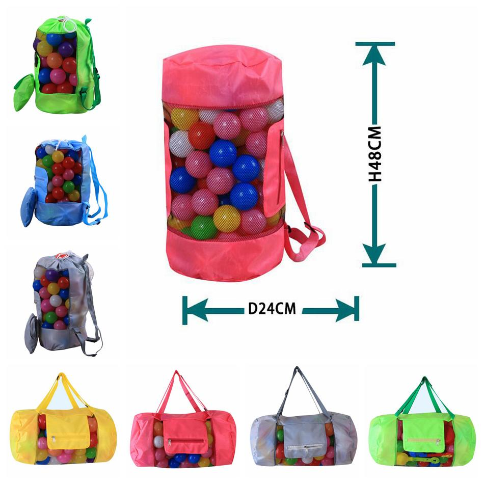 Kids Beach Toys Receive Bag Folding Mesh Sandboxes 24*48cm Child Sandpit Storage Shell Net Sand Away Beach Mesh Pouch Bag OOA4933