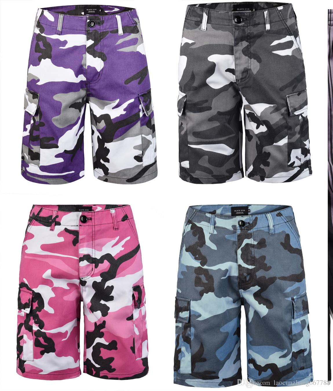 d758473c95 2019 Size M XXXXL Color Camo Cargo Pants Shorts 2018 Mens Fashion Baggy  Tactical Trouser Hip Hop Casual Cotton Multi Pockets Shorts Streetwear From  ...