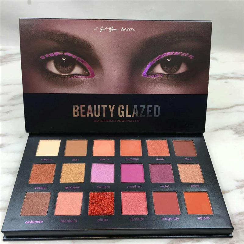 Beauty Essentials Beauty Glazed 12 Colors Eyeshadow Palette Shimmer Waterproof Metallic Matte Eye Shadow Powder Professional Glitter Shadow Kit