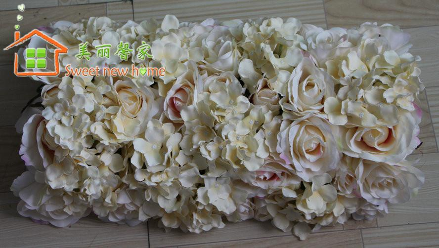 2018 artificial flower table runner champagne simulation silk flower 2018 artificial flower table runner champagne simulation silk flower table decorationswedding road lead flowers wedding arch flowers from wuzhongtin mightylinksfo