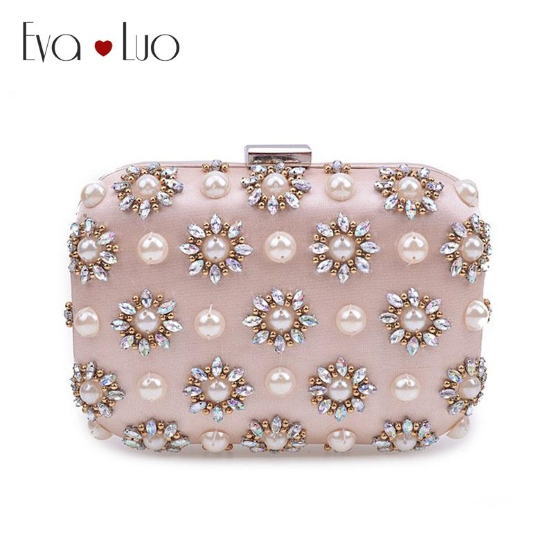 JZX7 DHL Light Pink Beading Pearl Crystal Evening Bags Clutch Bag Women  Clutches Lady Wedding Bag Handbag Purse Italian Leather Handbags Handbags  Brands ... 08dafc36759b