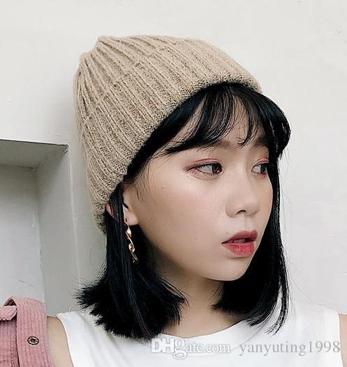 купить оптом 2018 шерстяная шапка зима корейский версия осень зима