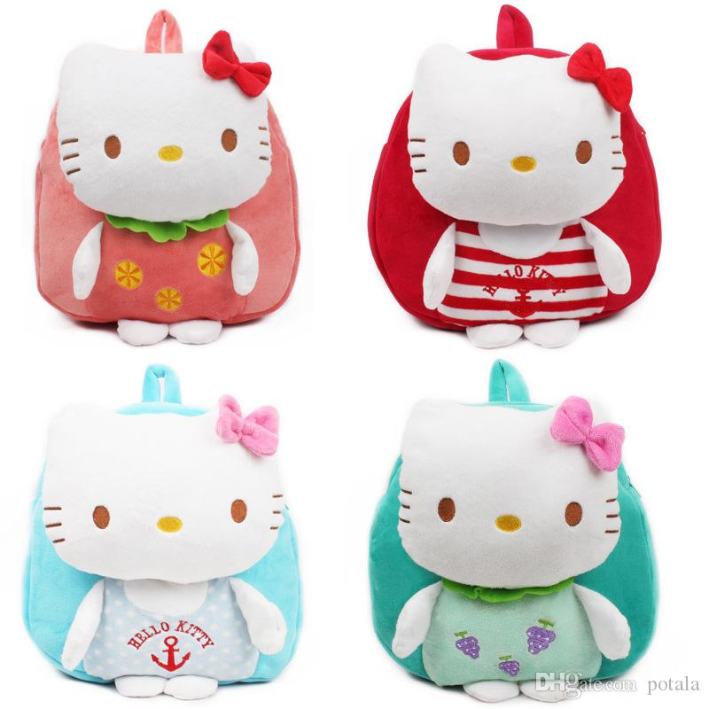 7cae6321a26b Hello Kitty Kids Backpacks School Bags 4 Patterns 2 3 Years Old Suitable  Spiderman Fila Mochila Toddler Borsetta Plush Bookbags Love Pink Clive  Backpacks ...