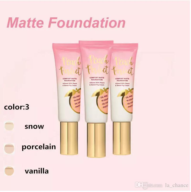 Dropshipping Hot makeup Foundation Peach perfect comfort matte foundation 48ml Face cream Foundation High quality