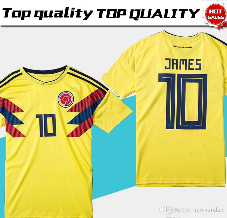TOP QUALITY Colombia Jersey 2018 World Cup Colombia Home Yellow Soccer  Jersey 17 18 Away Blue FALCAO JAMES CUADRADO TEO BACCA Football Shirt UK  2019 From ... 96d752f7a