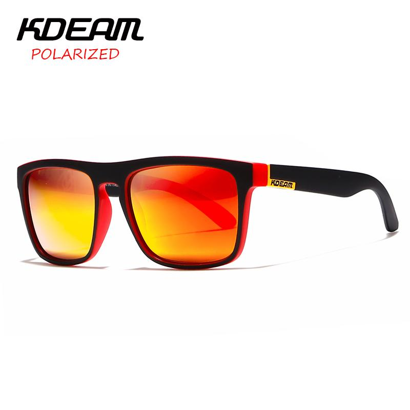 01bcfe8867168d KDEAM Spectacles Polarized Sunglasses Men Sport Eyewear Women Oculos De Sol Reflective  Coating UV400 Zonnebril With Case KD156 Sunglasses At Night ...