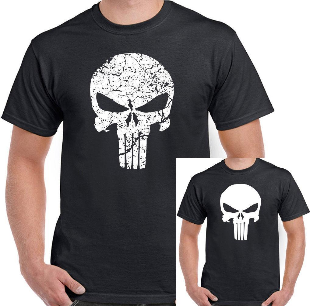 e9e30636 The Punisher Mens Gym T Shirt Training Top Skull MMA UFC Bodybuilding Mua  Thai Vintage T Shirts Band T Shirts From Amesion41, $12.08| DHgate.Com