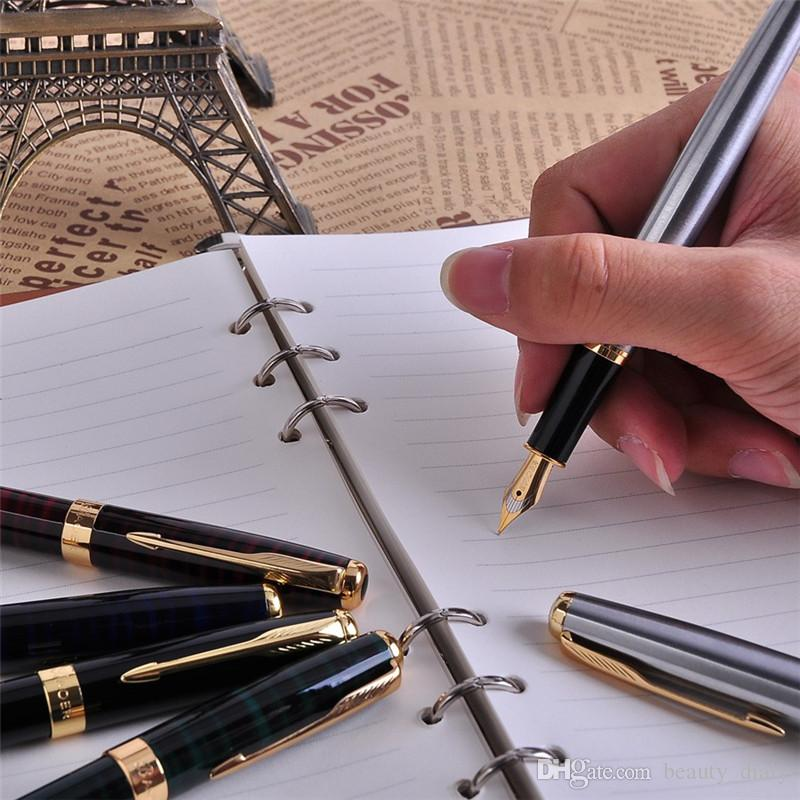 Promozione All'ingrosso / set Baoer 388 lusso oro clip penna stilografica colori della miscela 0.5mm pennino inchiostro metallo penne Set il regalo di natale