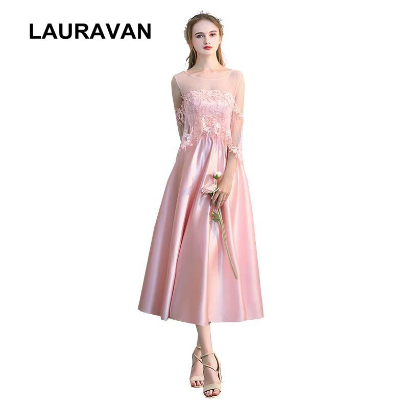 Robe Mariage Beautiful Women Short Teen Girl Bridesmaid Pink Satin Tea Ball Gown  Dress For Wedding Party Event Bridesmaid Dresses Glasgow Champagne ... fa2f30435fa4