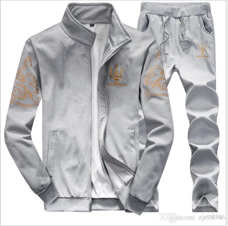 8909282ea132 Acquista Tuta Pantaloni Da Uomo Imposta Moda Felpa In Cotone Felpe Tuta  Sportiva Di Marca Casual Abbigliamento Sportivo Jogger Set A $35.54 Dal  Zjs98986 ...