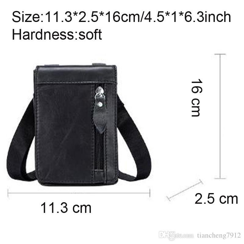 3f2b0e66d5c1 2018 Hot Sale Vintage Leather Messenger Bag Black Brown Leather Fanny Pack Mens  Leather Waist Pack 702 Backpacks For School Black Handbags From ...
