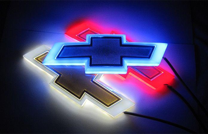 17*5.5cm Car Emblem light for Chevrolet cruze epica Badge Sticker LED light 4D logo Emblems light