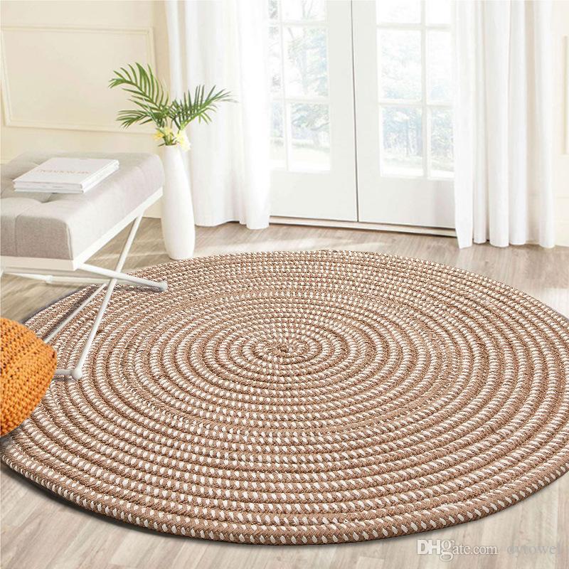 Grosshandel Handgemachte Weben Runde Teppiche Fur Wohnzimmer Solide