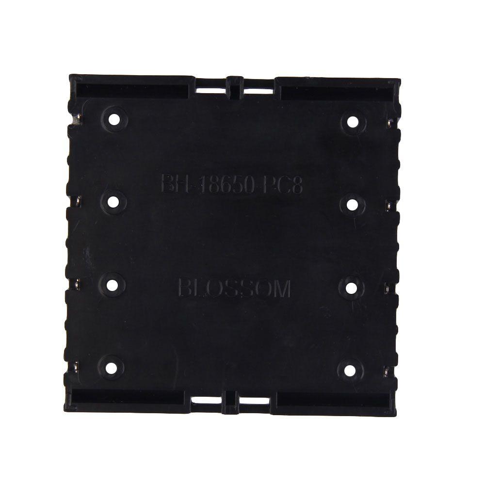 Battery Box Holder Batteries Case for 4x18650 in Parallel 3.7V Pole Black