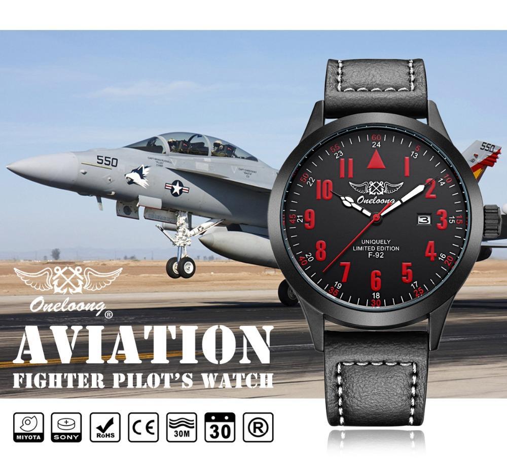 e4d91c765bf47 Acheter Aviateur Montre Top Marque Air Calendrier Montre Hommes En Cuir  Étanche Horloge Hommes Relojes Aviador Montres Aviateur Reloj De $27.9 Du  Boiline ...