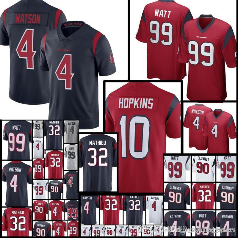 2018 Men S Texans 4 Deshaun Watson 32 Tyrann Mathieu Jersey 90 Jadeveon  Clowney 99 J.J. Watt Limited Jerseys From Heysports 372e205bc