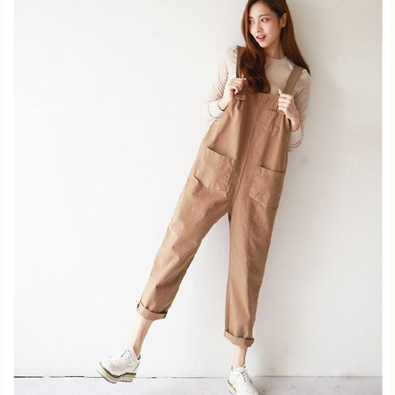8ed273dd441e 2019 JUJULAND New Womens Casual Loose Linen Pants Cotton Jumpsuit Strap Harem  Trousers Overalls Overalls Loose Harem Pants Trousers From Beenlo