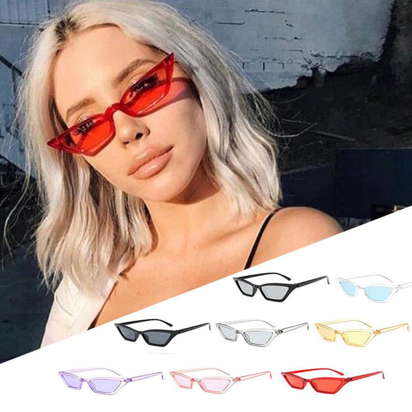 21665d295b9d4 Cat Eye Vintage Sunglasses Outdoor Sports Women Cat Eye Sun Glasses Retro Small  Red Ladies Sunglass GGA246 Prescription Glasses Sunglass From ...