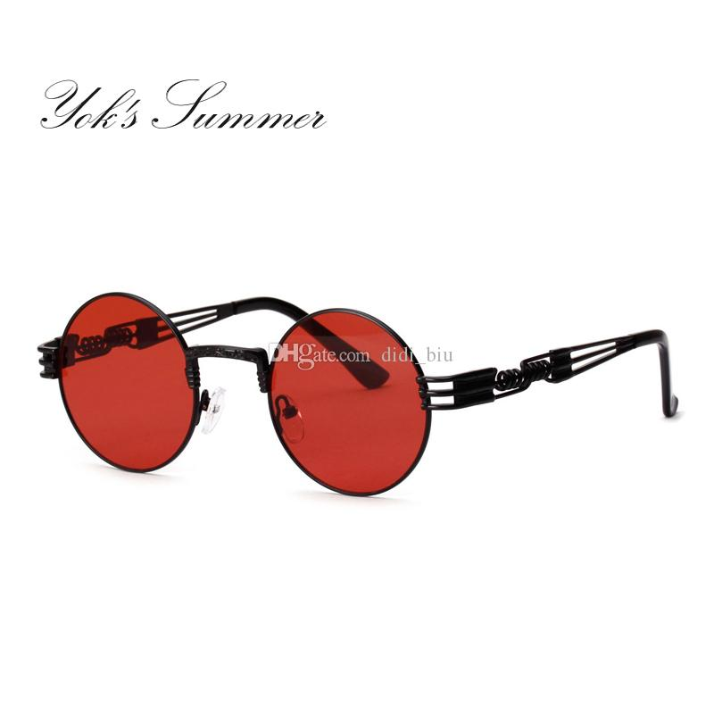 c3ee4282003 Yok S Summer Small Round Sunglasses Women Steampunk Vintage Hollow Metal  Frame Sun Glasses Female Hippie Decoration Oculos UN095 Sports Sunglasses  Cheap ...