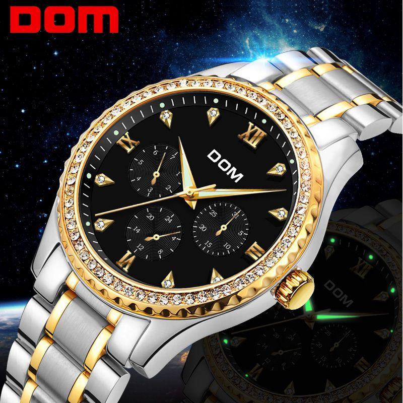 0dc020c7b13 Compre Relógio De Pulso De Ouro Homens 2018 Top Marca De Luxo Famoso Relógio  Masculino Relógio De Quartzo Relógios De Pulso À Prova D  água Relogio ...