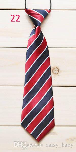 Boys Girls Elastic Adjustable Necktie Children Tie Print Patterned Kids Tie Casual Neck Ties