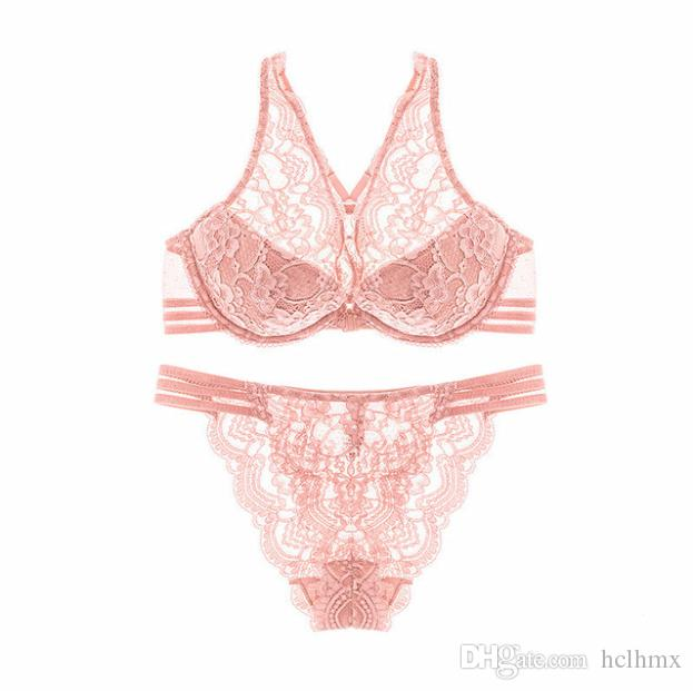 f1ce55e3d77 2019 Top Brand Comfort High Quality Women Wear Cotton Padded Push Up Front  Closure Underwire Racerback Bras With Lace And Panty Lingerie Bra Set From  Hclhmx ...