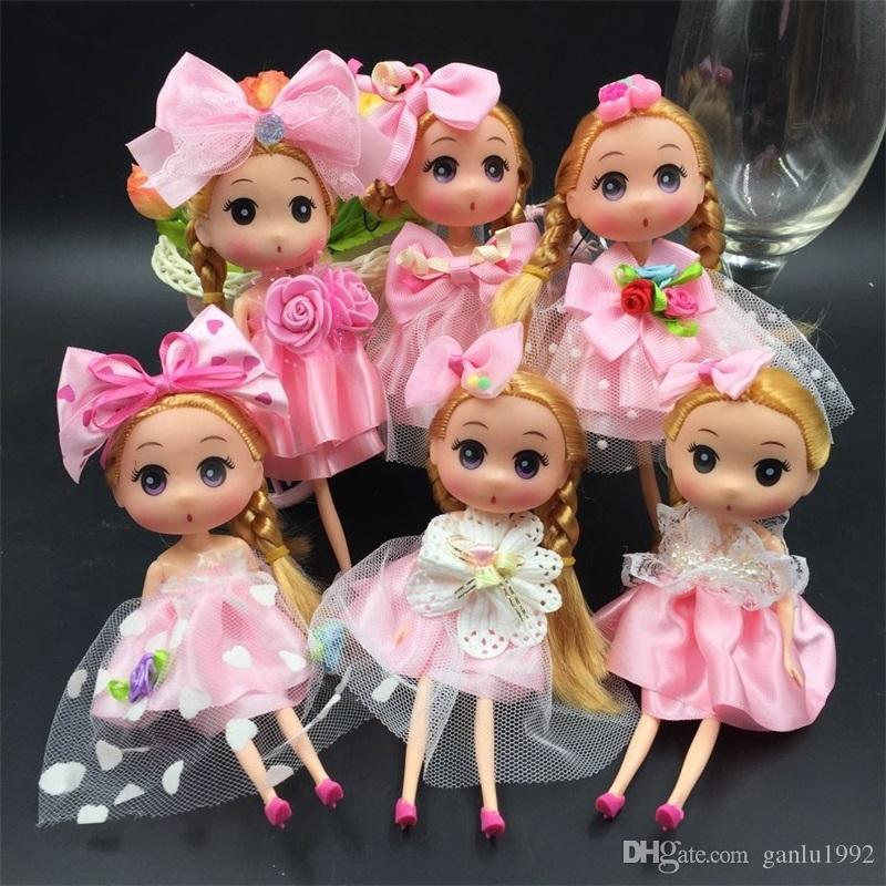 Lovely Princess Wedding Doll Backpack Keychain Pendants Charm Toy Throw Favors Children Charm Gift Baby Dolls 3 5yj W