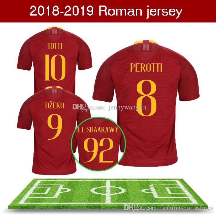 Compre 2018 Apressado Homens 2019 Nova Casa Vermelha Camisas De Futebol  Perotti Totti Dzeko Nainggolan Strootman De Rossi El Shaarawy Cengiz Roma  Camisa De ... e10303c00da5c