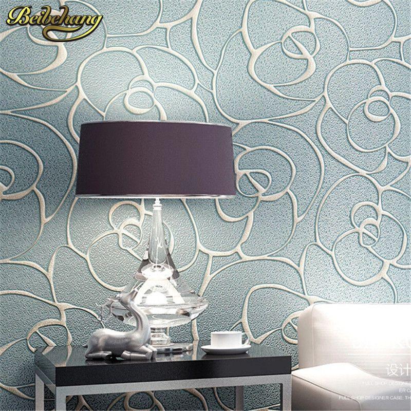 Acquista Beibehang Rilievo Rose Wallpaper Soggiorno Camera Da Letto