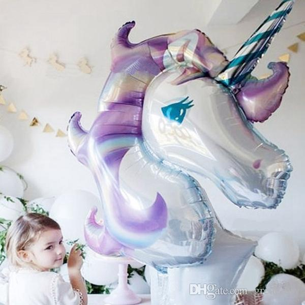 Große Regenbogen Einhorn Luftballons Party Supplies Folienballons Kinder Cartoon Tier Pferd Geburtstag Party Dekoration Einhorn Ballon