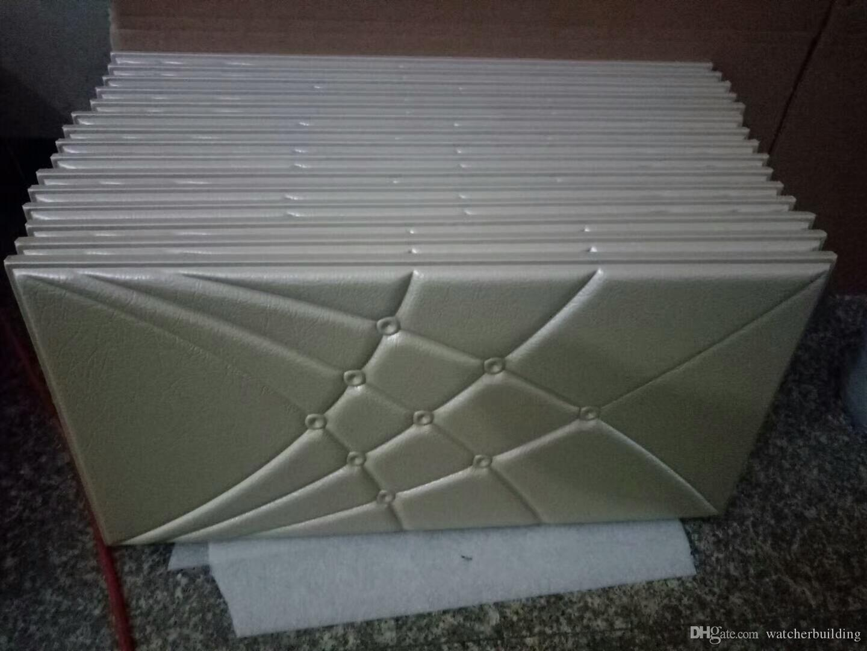 Leather Tile 3d Wall Panels Pe Foam Wall Sticker Interior