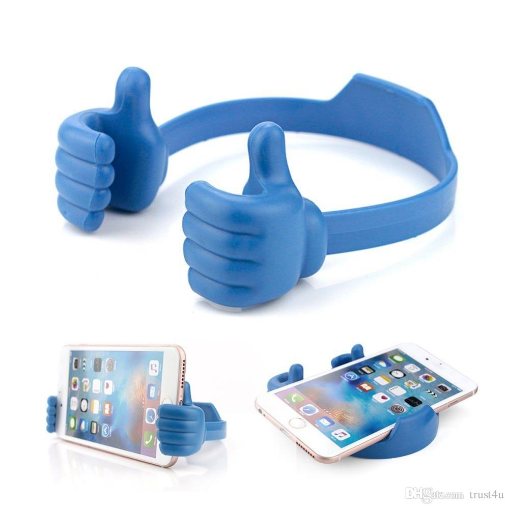 OK Soporte Universal Car Desktop Stand Mount Thumb Hand Holder para teléfono celular Tablet Lazy Flexible Tablet Phone Holder Desktop