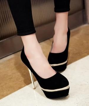 New Arrival Hot Sale Specials Sweet Girl Good Quality Sexy Fine Noble Nightclub Stiletto Elegant Platform Suede Party Heel Shoes EU34-44