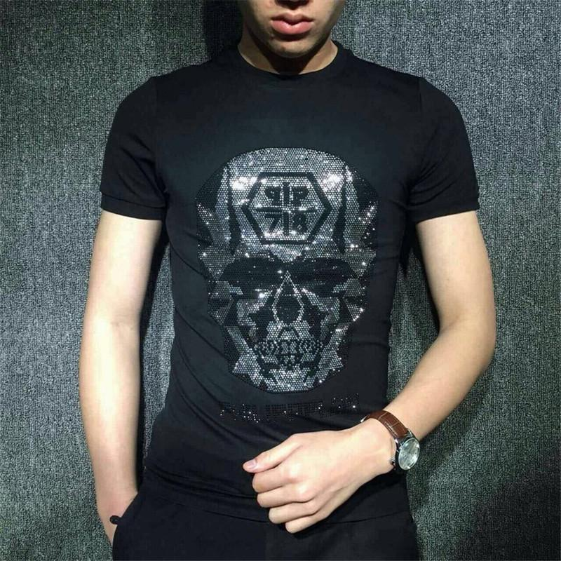 2fc06e2cb Men T Shirt Mens Designer T Shirts Mens Clothing Summer Casual Shirts For  Men Street Wear Crew Neck Skull Short Sleeve Plus Size M 5XL T Shirt  Sayings Retro ...