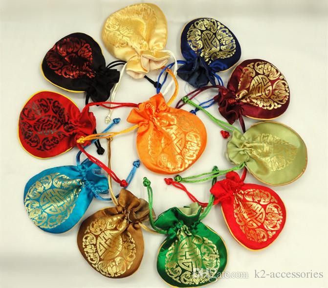 / FOLK عملة المحفظة الحقيبة هدية صغيرة أكياس للمجوهرات الحرير الحقيبة حقيبة الصينية أكياس التعبئة والتغليف بالجملة