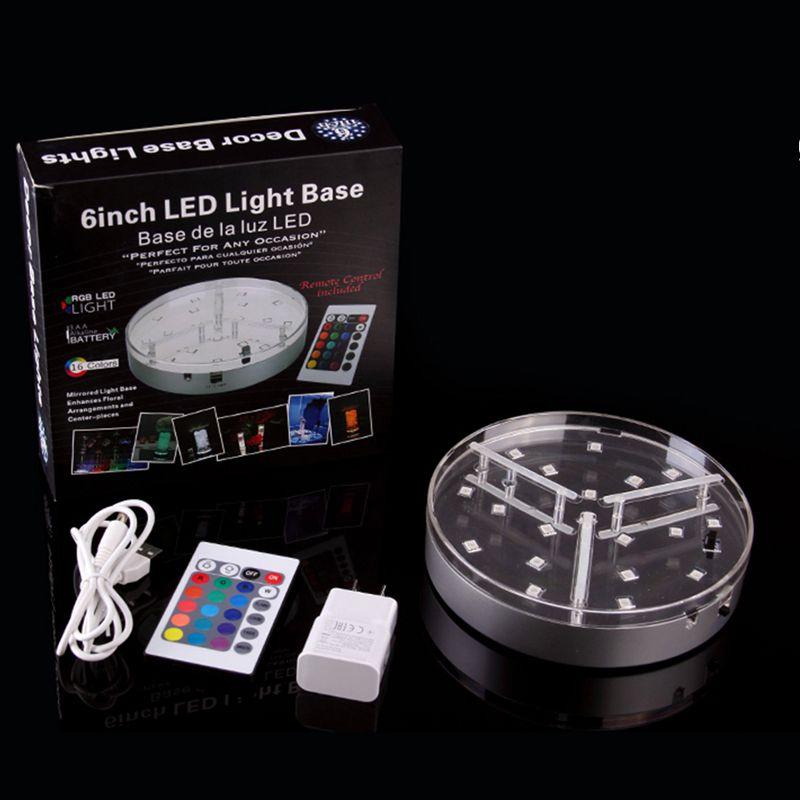 Shisha Shisha Basen 6inch LED-Vase-Licht wiederaufladbare batteriebetriebene Lichter für Hochzeits-Party-Dekoration Candelabra-Mittelstücke