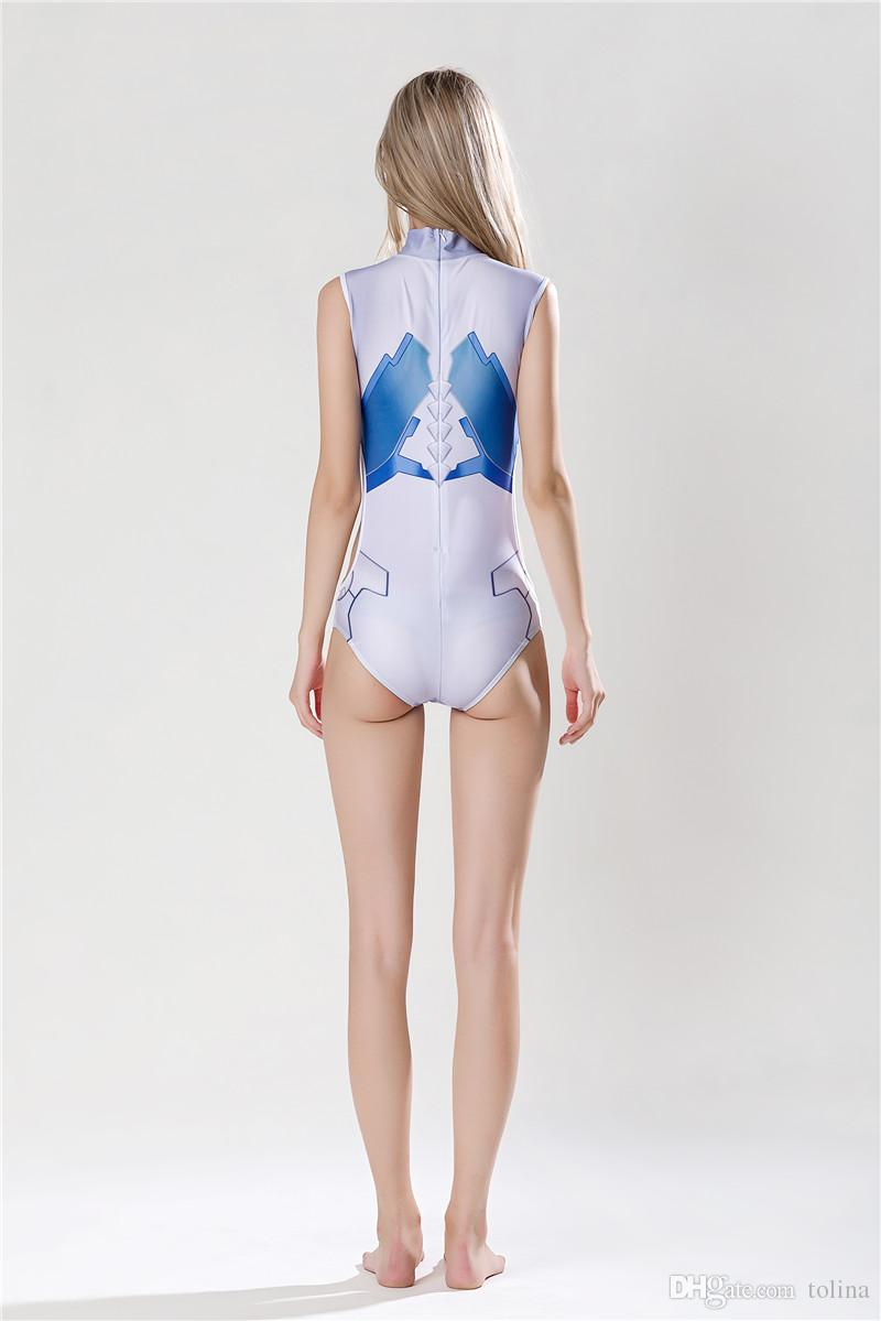 Darling In The Franxx Cosplay Costume ICHIGO ZERO TWO Swimsuit Sukumizu Woman CODE:002 Swimwear Summer Beach Girl