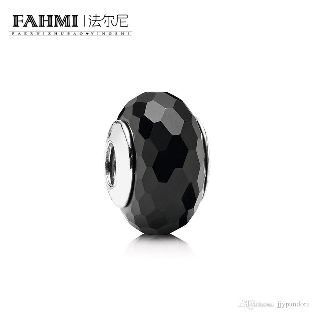 FAHMI 100% 925 Sterling Silver 1: 1 Original Glass Beads 791069 Auténtico Temperament Fashion Glamour Retro Wedding Joyería de las mujeres
