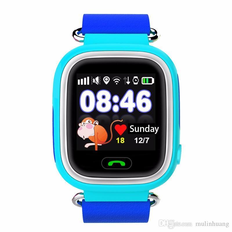 Q90 Bluetooth Tracking Smartwatch Touchscreen mit WiFi LBS für iPhone IOS Android SOS-Anruf Anti verloren SmartPhone Kinder Smart Watch MQ10