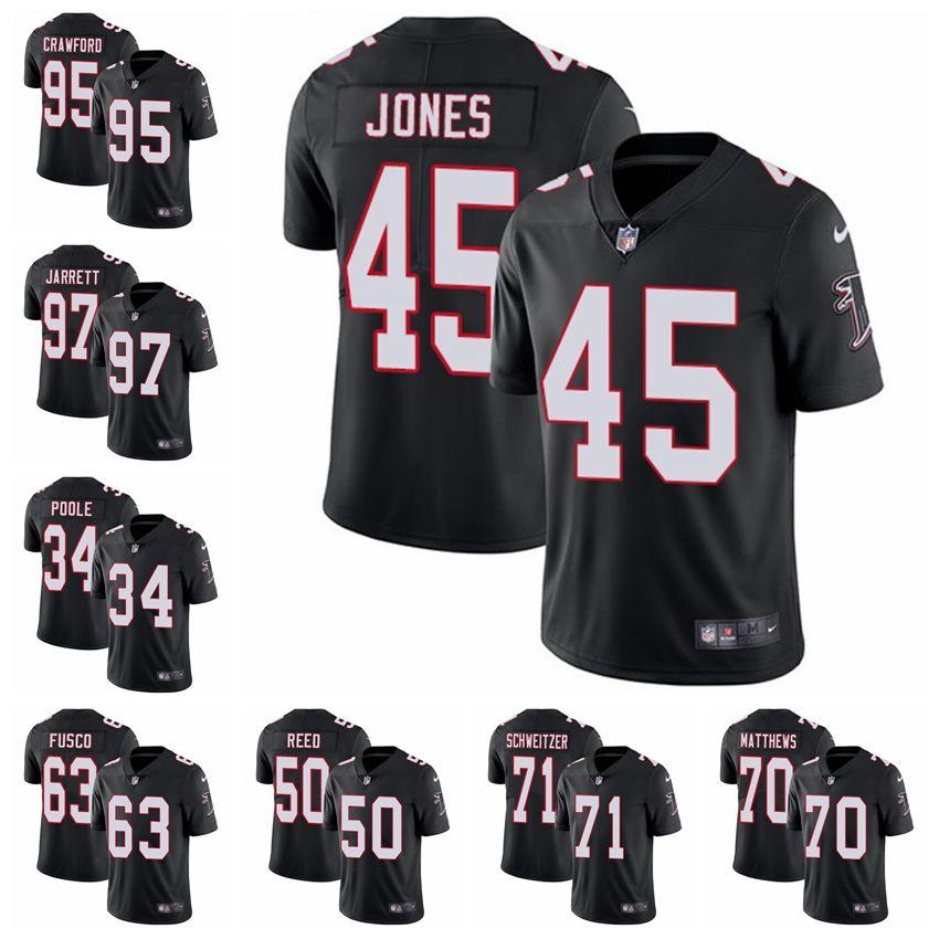 Atlanta Limited Alternate Football Jersey Falcons Black Vapor ... 04f10a69a