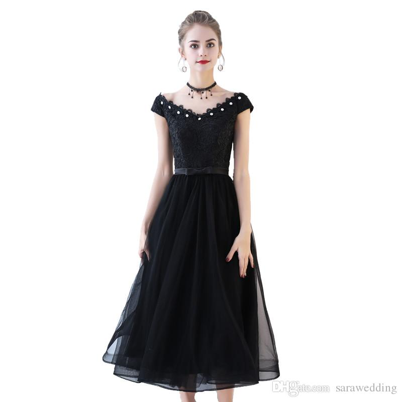 Elegant Black Cocktail Dress for a Party