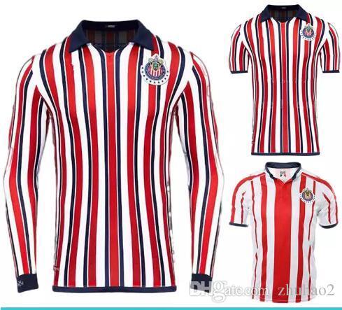 New 2018 Chivas De Guadalajara World Cup Soccer Jerseys Long Sleeve Kit  Retro 110 Year 2019 MEXICO Club A.PULIDO Thailand Football Shirts UK 2019  From ... a9262ccddaa