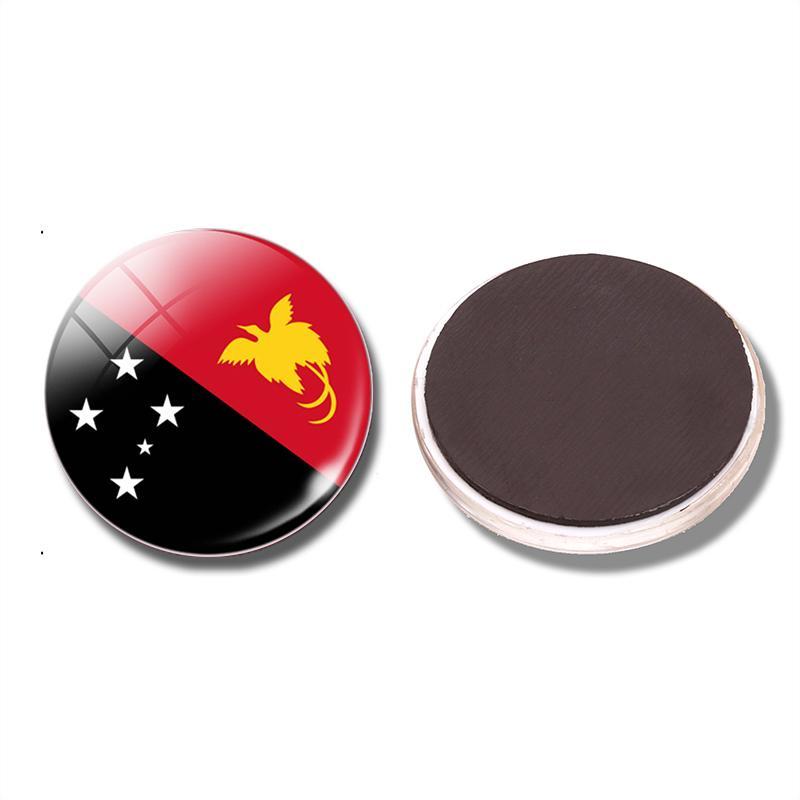 Papua New Guinea Flag Decorative Refrigerator Magnets 30mm Glass ...