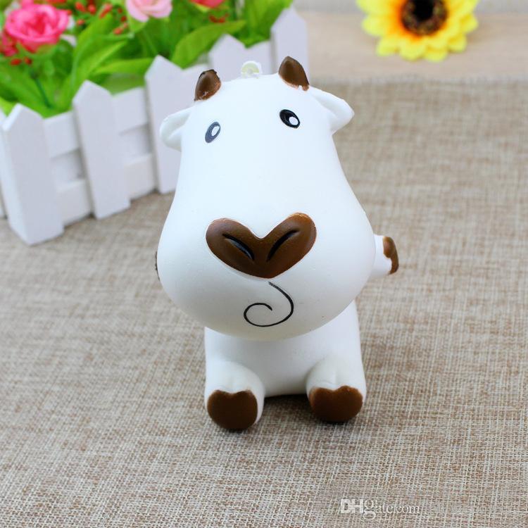 Cow 11cm*8.5cm 65g pu squishy kawaii jumbo slow rising Squishy decompression charm squeeze toy